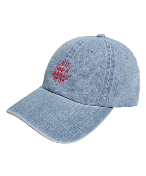帽子,キャップ,CAP,ファッション,コーデ,コーディネート,プチプラ,プチプライス,ブランド,かわいい,カワイイ,可愛い,使いやすい,安い,ブランド,CALIFORNIA HAVE A NICE TIME !,カリフォルニアハヴァナイスタイム,ベアー,bear,クマ,くま,デニム