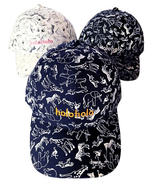 取り扱い,取扱い,取扱,ファッション,コーデ,コーディネート,プチプラ,プチプライス,ブランド,かわいい,カワイイ,可愛い,使いやすい,安い,cap,帽子,キャップ,ローキャップ,総柄,アニマル,動物柄,プリント,黒,ブラック,ホワイト,白,ネイビー,holoholo